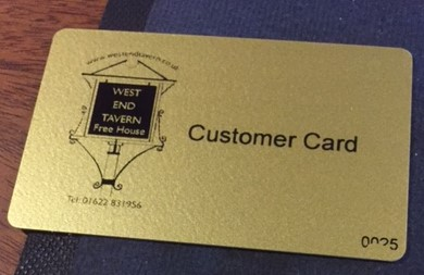 The West End Tavern Gift Voucher - now available and just in time for Christmas!